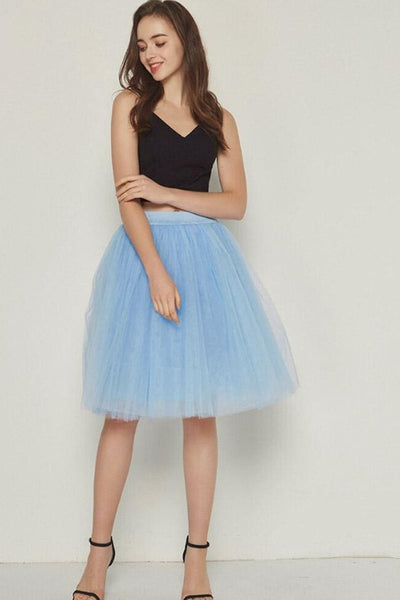 Sarnalina Tulle Skirt - Lake Blue - Skirt