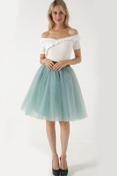 Sarnalina Tulle Skirt - Light Green - Skirt