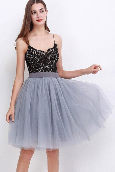 Sarnalina Tulle Skirt - Smoke Gray - Skirt