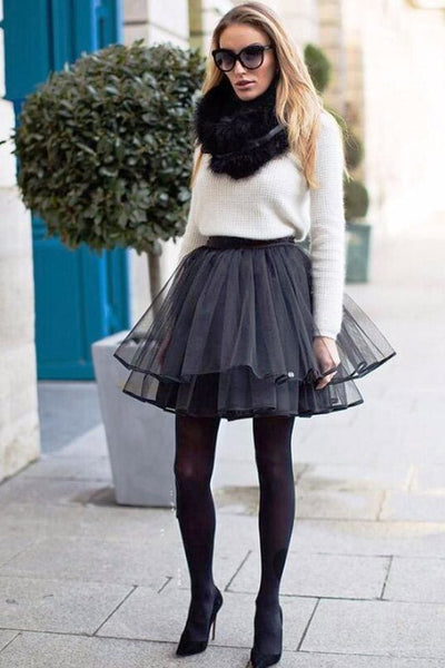 Serenade Tulle Mini Skirt - Skirt
