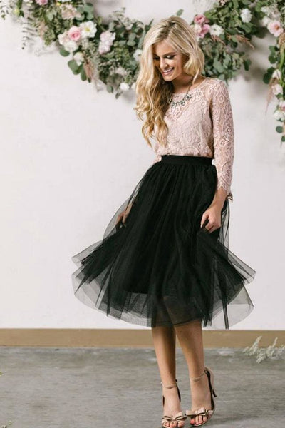 Serendipity Tulle Skirt - Regular / Black - Dress