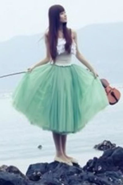Serendipity Tulle Skirt - Regular / Green - Dress