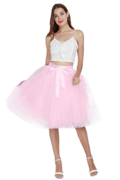 Sirocco 7 Layer Tulle Skirt - Pink - Skirt