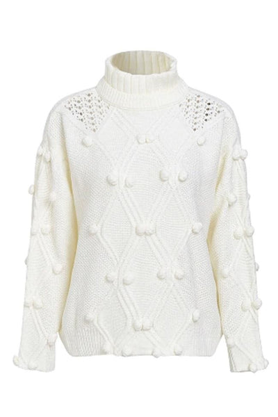 Sirolo Turtleneck Sweater - One Size / White - sweater