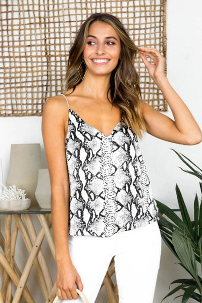 Tempe Snakeskin Camisole Top - Tops