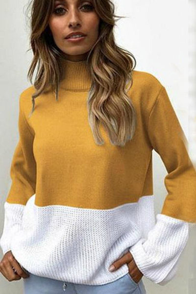 The Sweet Side of Life Color Block Sweater - sweater
