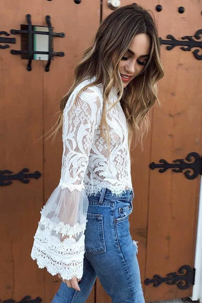 Throne White Lace Top