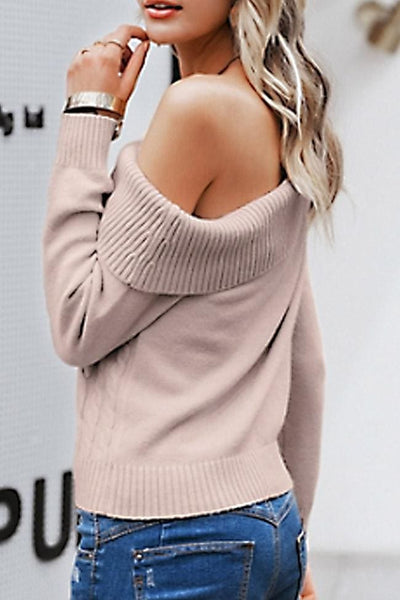 Tristan One-Shoulder Sweater Top - sweater