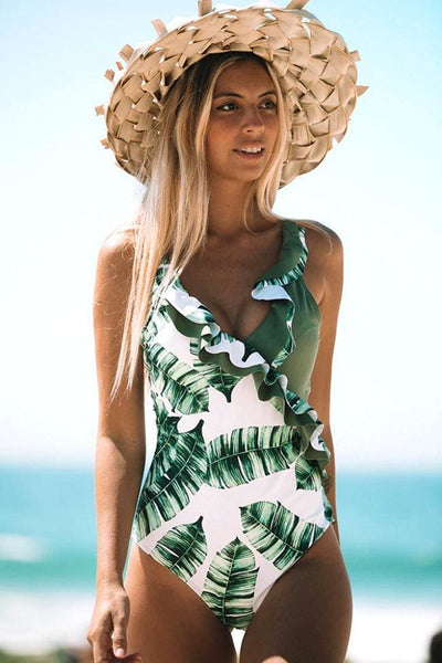 Under The Palms One Piece Swimsuit - Swimsuit