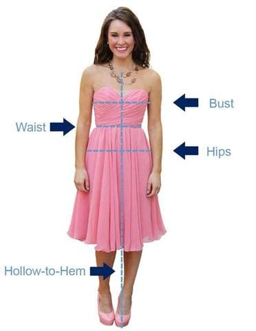 how to measure for a dress