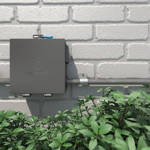 LeakSmart Outdoor Enclosure Box installed on exterior water main product image