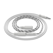 Load image into Gallery viewer, Product image on white background of the SensXtend by LeakSmart Rope Water Sensor and Extension cable coiled together.