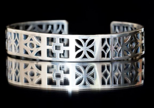 breeze block cuff by Mary Beth Heishman