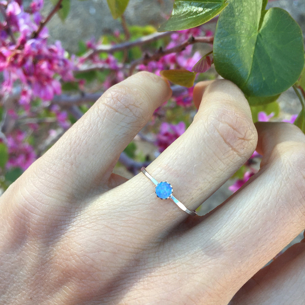 Australian Opal Stacking Ring