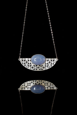Atomic Blue Desert Necklace