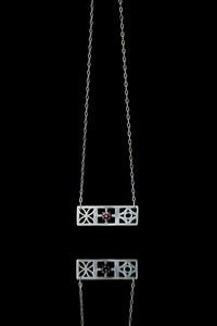 Trio Ruby Block Necklace