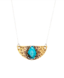 Half Moon Turquoise Necklace