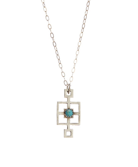Turquoise Small Block Necklace