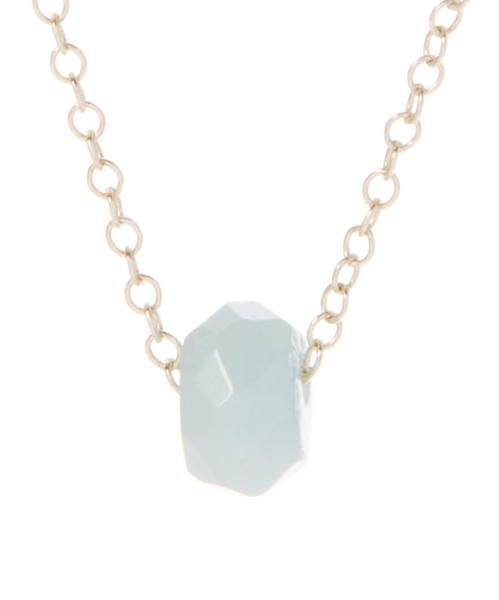 Layering Aquamarine Necklace