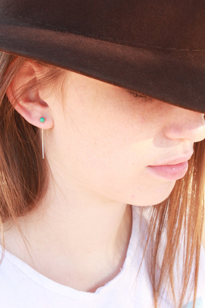 Long Turquoise Studs