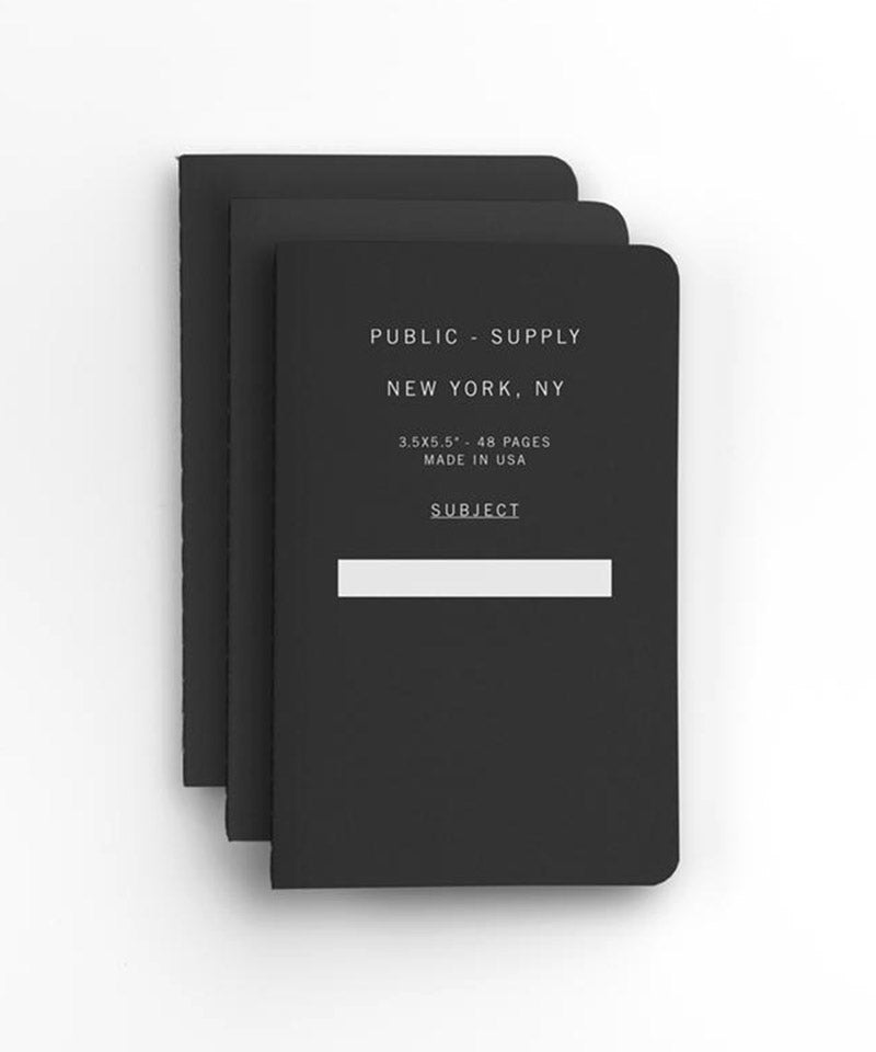 "3.5""x5.5"" Pocket Notebook in Black – 3 pack"