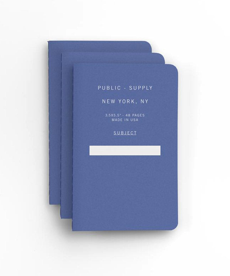 "3.5""x5.5"" Pocket Notebook in Blue – 3 pack"
