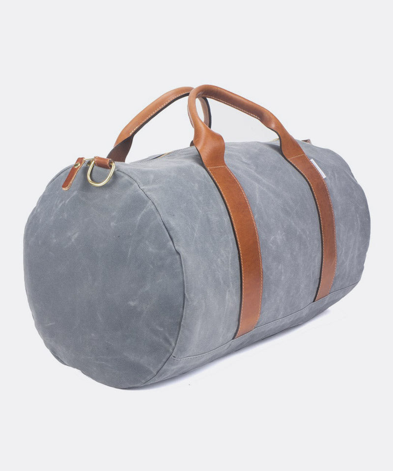 Voyager Waxed Weekender in Charcoal