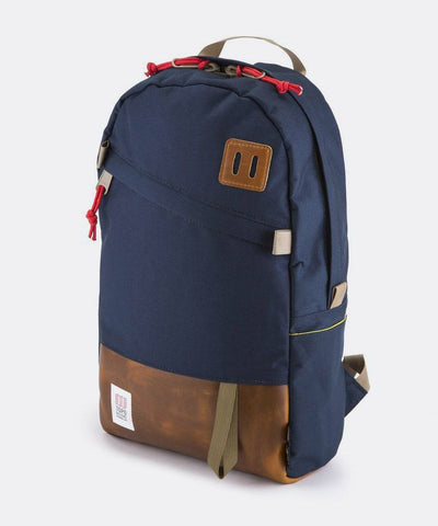 Day Pack in Navy and Brown Leather