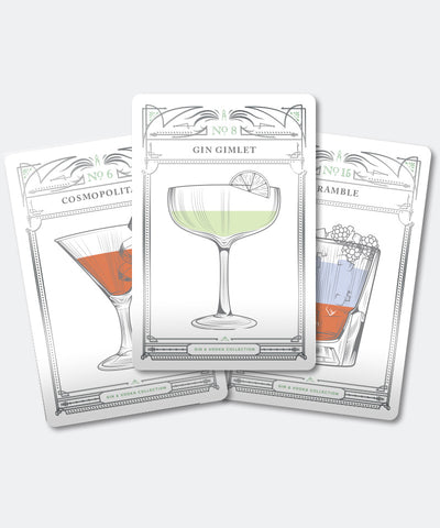 Ellicott & Co. Classic Cocktails Gin & Vodka Cards
