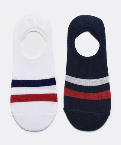 Kennedy Stripe No Show Sock