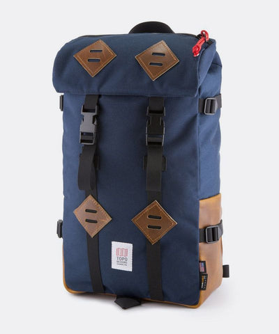 Klettersack in Navy and Brown Leather
