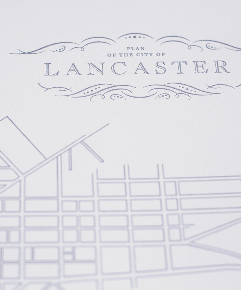 Lancaster Map Poster