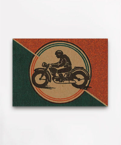 Hammerpress Motorcycle Postcard