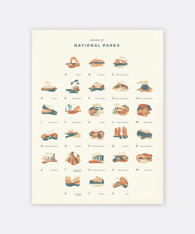 National Parks Alphabet Print