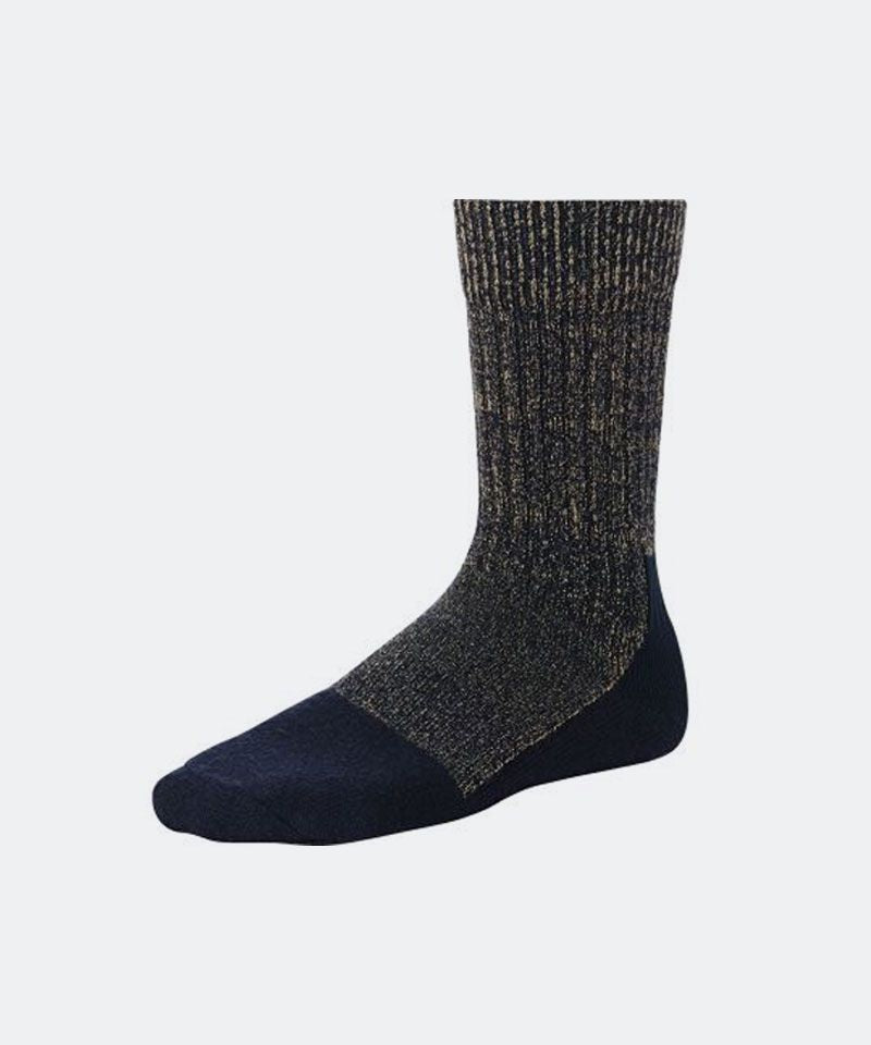 Deep Toe Capped Sock in Navy