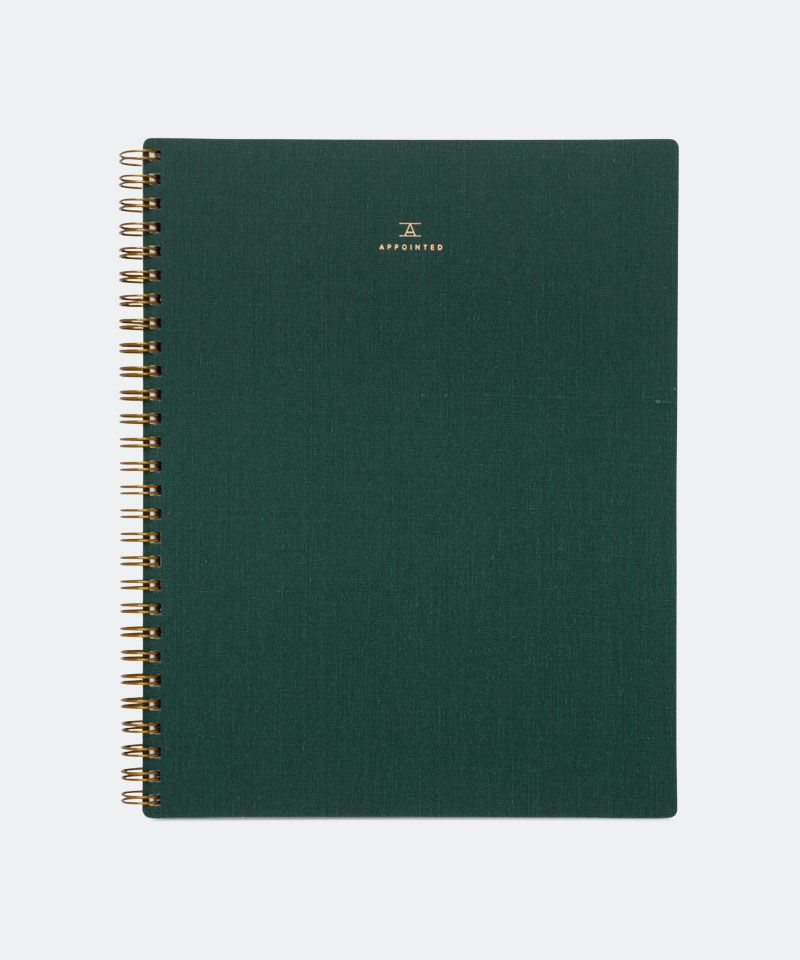 Notebook in Hunter Green