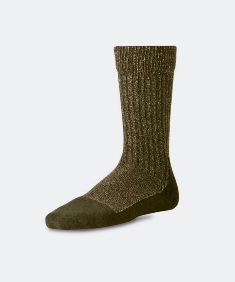 Deep Toe Capped Sock in Olive