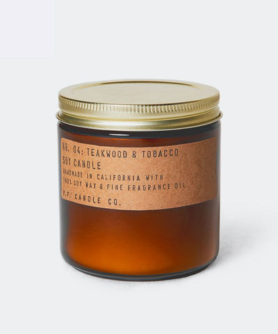 Teakwood & Tobacco Large Candle