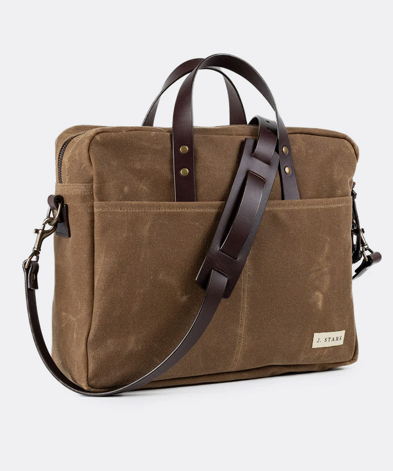 Prospect Briefcase in Brush Brown