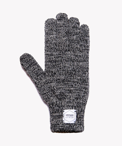 Melange Ragg Wool Glove in Charcoal
