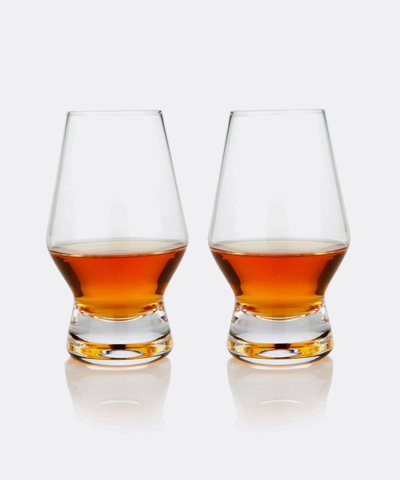 Footed Crystal Scotch Glasses
