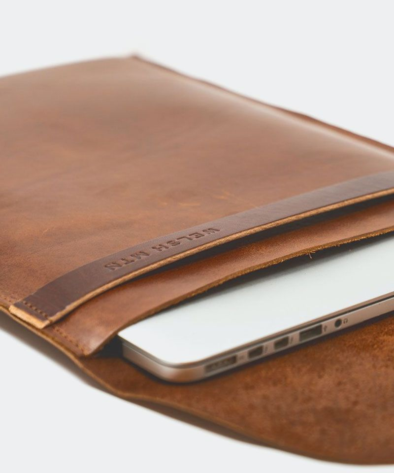 Leather Laptop Sleeve 15""