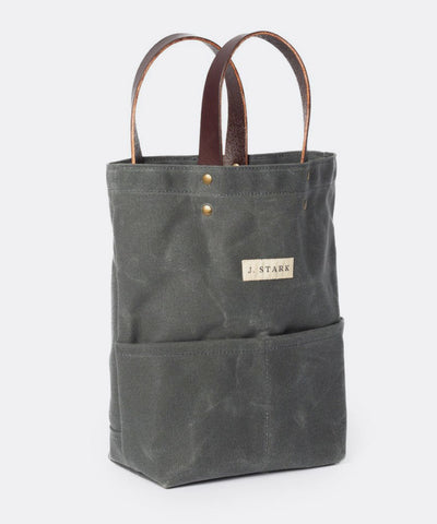 Tremont Wine Tote in Charcoal