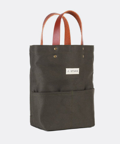 Tremont Wine Tote in Olive