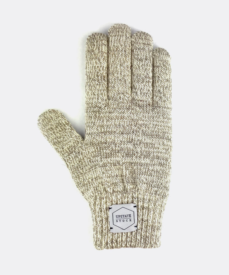 Melange Ragg Wool Glove in Oatmeal