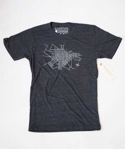 Ellicott & Co. T-Shirt Lancaster Map Charcoal