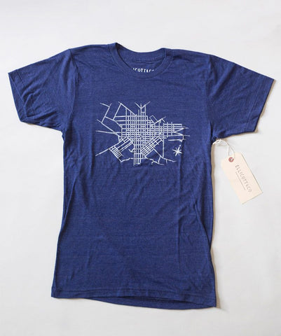 Ellicott & Co. T-Shirt Lancaster Map Indigo