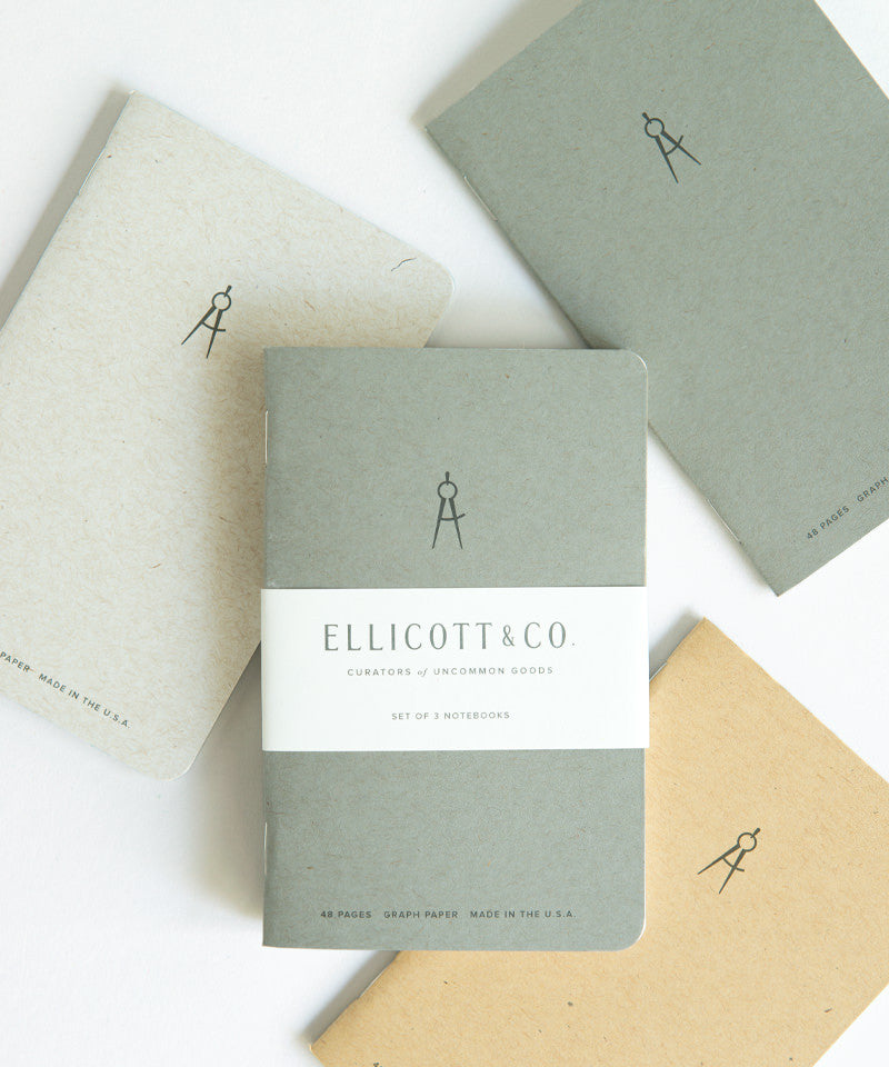 Ellicott & Co. Notebook 3-Pack