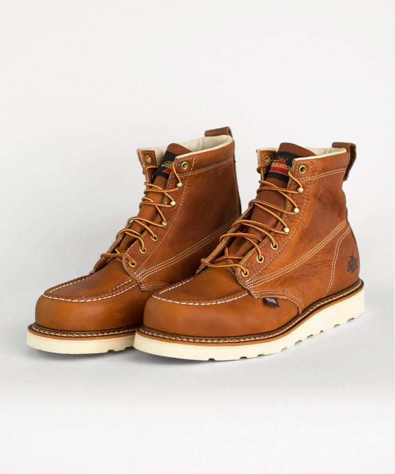 Tan Mocc Toe Boot