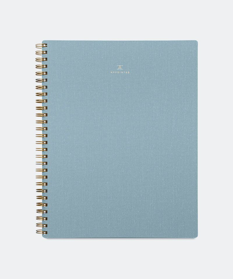 Workbook in Chambray Blue